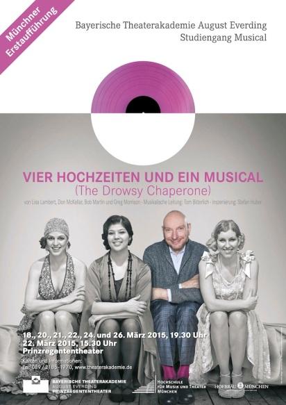 """Plakat """"Vier Hochzeiten und ein Musical"""""""